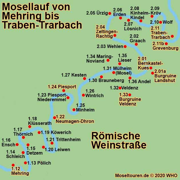 Moseltouren Reisefuhrer Mosel Trier Bernkastel Kues Traben
